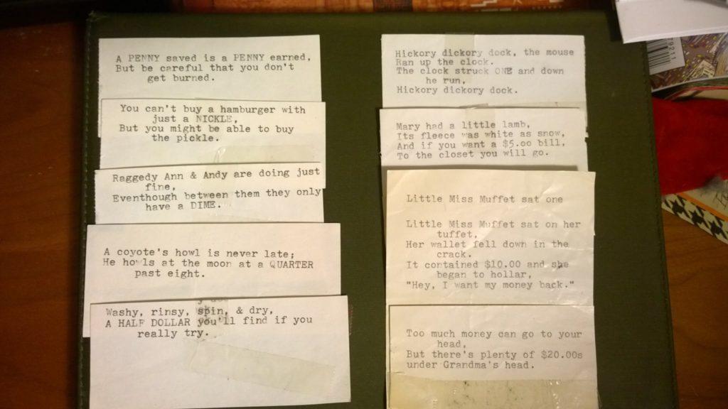 Nanny's cards