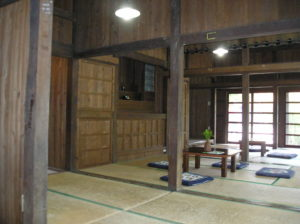 Inside a traditional home