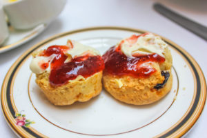 scones with jam and cream...can't beat it